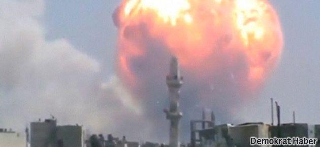Suriye'de cephanelik patlaması: 40 ölü