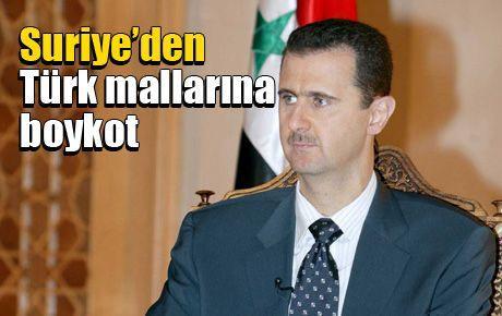 Suriye'den Türk mallarına boykot