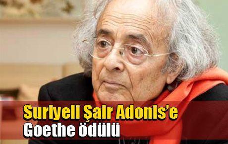 Suriyeli Şair Adonis'e Goethe ödülü