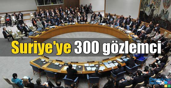 Suriye'ye 300 gözlemci