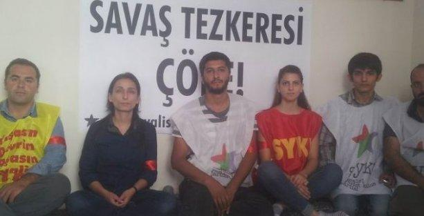 SYKP'den Kobani'ye destek için açlık grevi