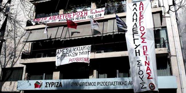 Syriza Genel Merkezi'ndeki 'F Tipi' işgali sona erdi