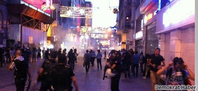 Taksim'de ara sokaklarda gazlı müdahale