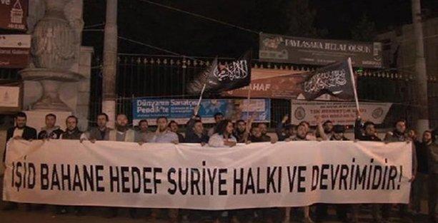 Taksim'de IŞİD operasyonu protestosu!