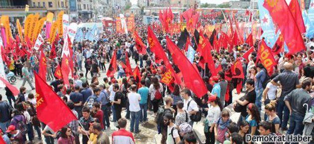 Taksim'de onbinlerce kişi direnişi kutluyor