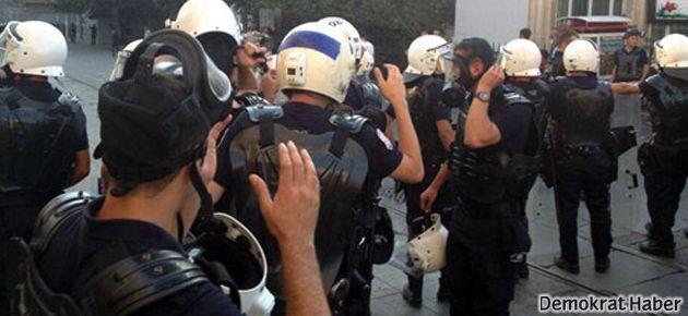 Taksim'de polis müdahalesi: 13 gözaltı