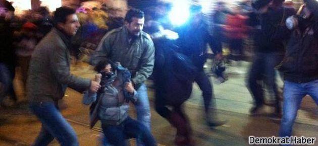 Taksim'de polis saldırısı