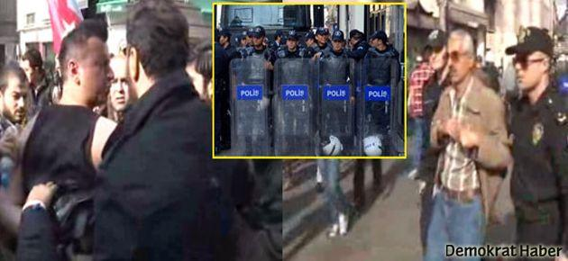 Taksim'de TGB eylemine engel: 2 gözaltı