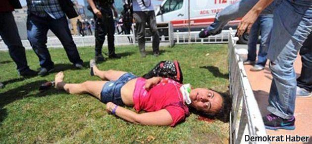 Taksim'de vurulan Lobna gözlerini açamadı