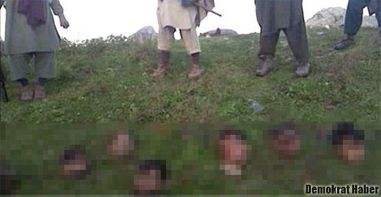 Taliban 12 askerin kafasını kesti