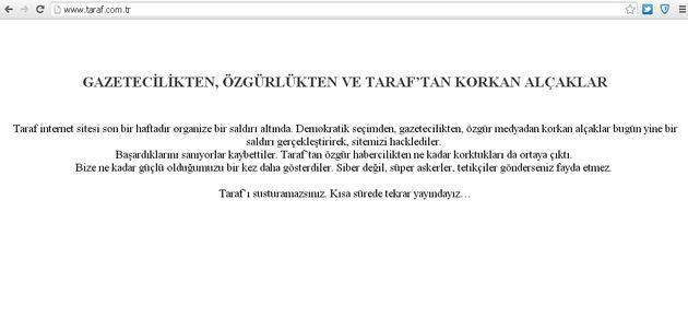 Taraf Gazetesinin İnternet Sitesi Hacklendi
