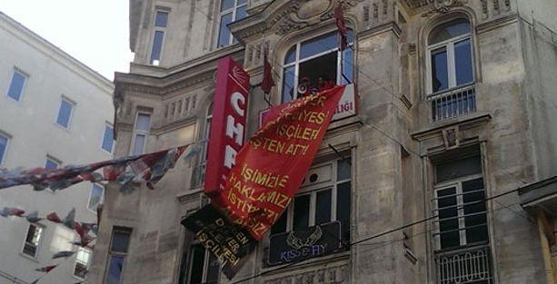 Taşeron işçiler CHP'yi işgal etti