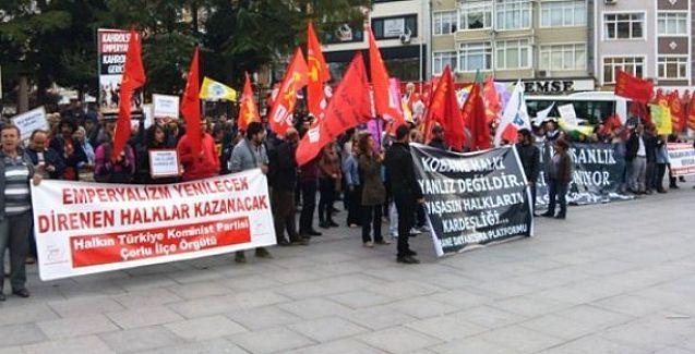 Tekirdağ'da Kobani için dayanışma eylemine katılanlara dava