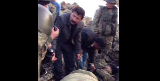 Tendürek'te bir askerden yardıma gelen sivillere: 'Abi bizlik bir şey yok'