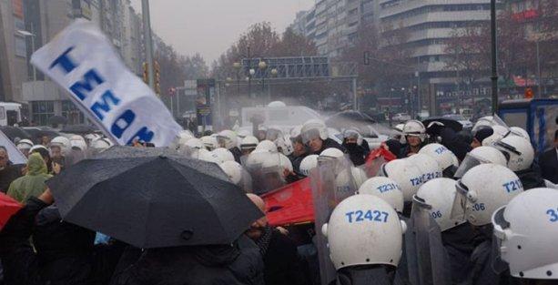 TMMOB eylemine polis saldırısı