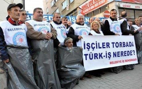 Torba yasaya torbalı protesto