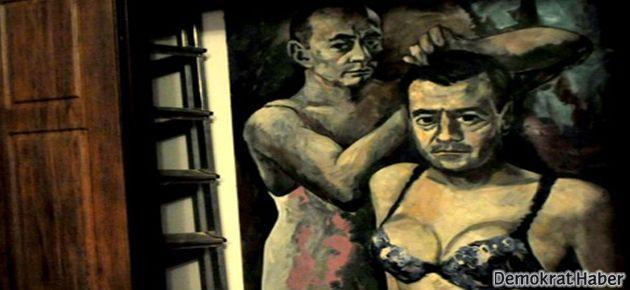 'Travesti' tablosuna polis el koydu