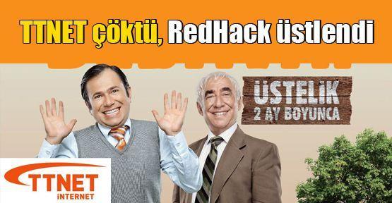 TTNET çöktü, RedHack üstlendi