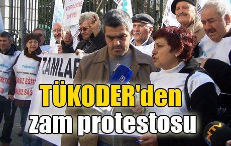 TÜKODER'den zam protestosu