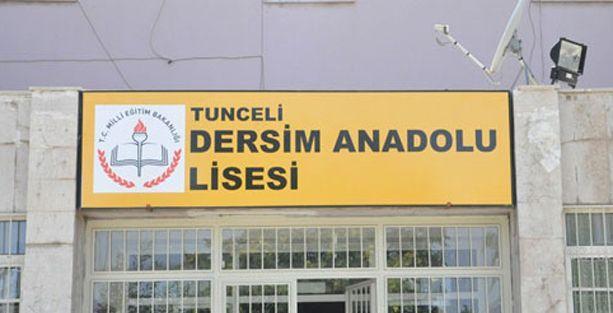 Tunceli'de devlet okuluna 'Dersim' adı verildi