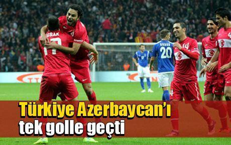 Türkiye Azerbaycan'ı tek golle geçti
