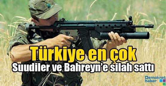 Türkiye, en çok Suudiler ve Bahreyn'e silah sattı