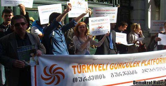Türkiyeli Gürcüler Milliyet'i protesto etti