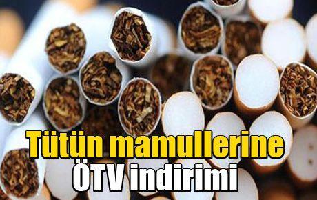 Tütün mamullerine ÖTV indirimi