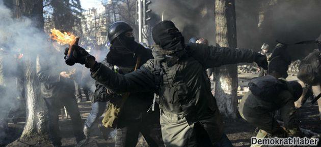 Ukrayna çatışmaları: 9'u polis 25 ölü!