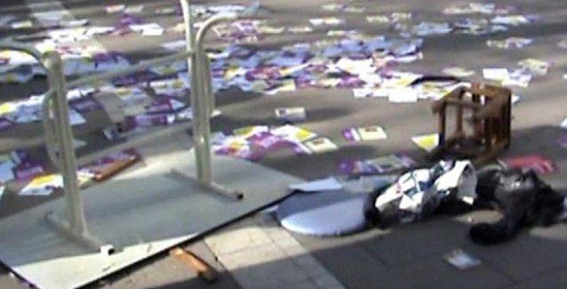 Uşak'ta HDP standına saldırı: 3 kişi yaralandı, bayraklar yakıldı!