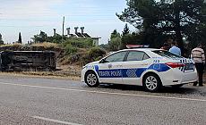Antalya'da işçi minibüsü devrildi: 5 yaralı