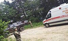 Trabzon'da patlama: 2 asker yaralı