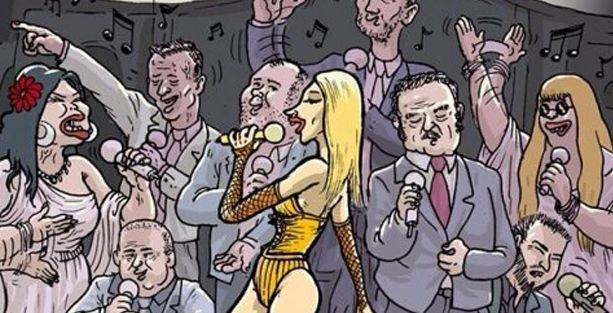 Uykusuz, Hande Yener'e 'Tayyip' şarkısı söyletti