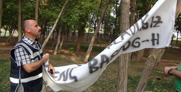 DBP'nin uyuşturucuya karşı kurulan çadırına polis baskını!