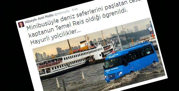 Vali Mutlu'dan 'sel' tweeti: Hayurli yolcilikler..