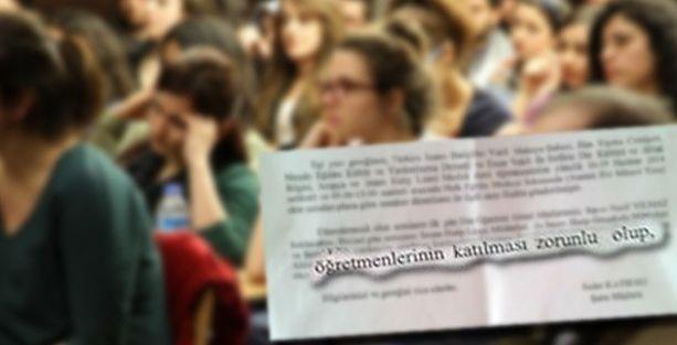 Valilikten öğretmenlere din semineri zorunluluğu