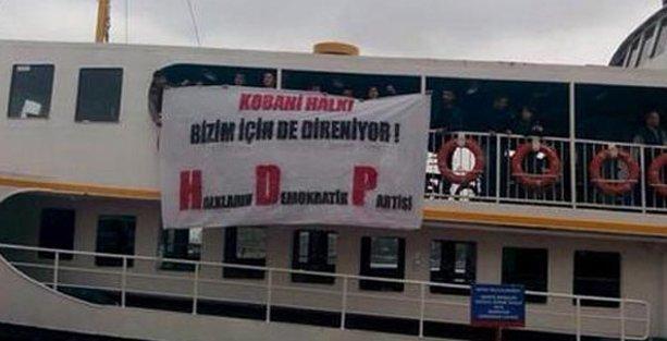 Vapurda Kobani eylemi yapan HDP'lilere 8 yıla kadar hapis istemi!