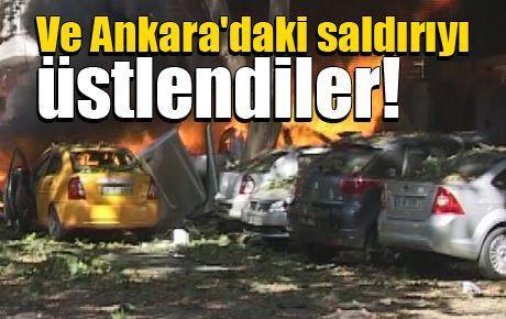 Ve Ankara'daki saldırıyı üstlendiler