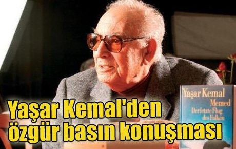 Yaşar Kemal'den özgür basın konuşması