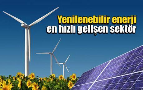 Yenilenebilir enerji en hızlı gelişen sektör