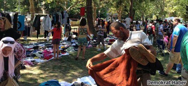 Yoğurtçu Parkı Çapulcu Pazarı'nda Takas Şenliği