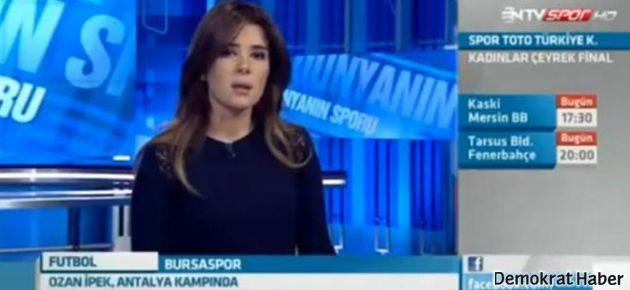 Azarlanan Ntvspor spikeri canlı yayında ağladı