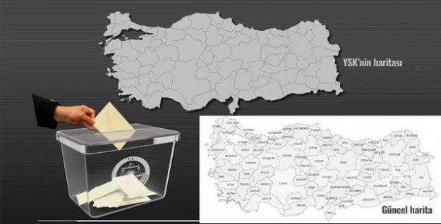 YSK'nın kullandığı harita dahi yanlış: 1989 öncesindeki haritayı kullandılar!