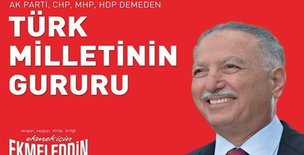 YSK'dan İhsanoğlu afişi kararı