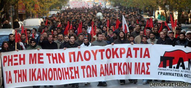 Yunanistan 48 saatlik genel grevde
