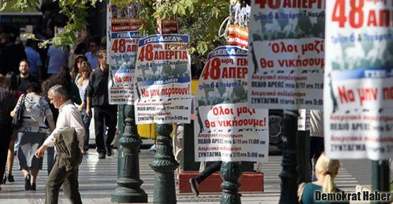 Yunanistan'da 2 günlük genel grev başladı
