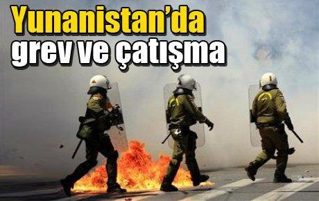 Yunanistan'da grev ve çatışma