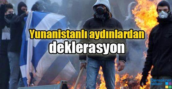Yunanistanlı aydınlardan deklerasyon