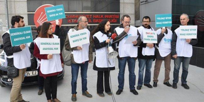 Yurt'tan çıkarılan gazeteciler sordu: 'Hani CHP iktidarında tüm gazeteciler sendikalı olacaktı?'