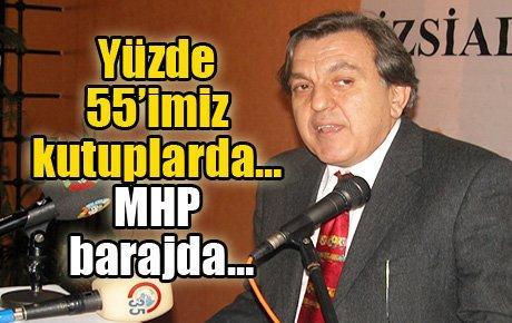 Yüzde 55'imiz kutuplarda… MHP barajda…
